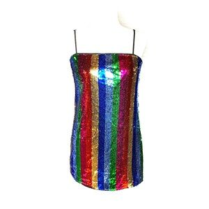 Forever 21 Rainbow Sequin Dress